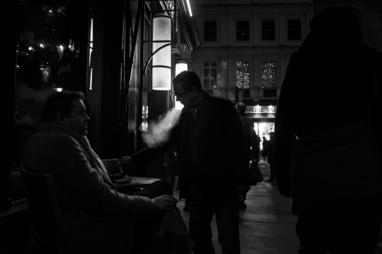 smoking french cafe
